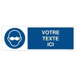 M007 - Port des lunettes opaques obligatoire + Texte