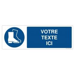 M008 - Port des chaussures de sécurité obligatoire + Texte