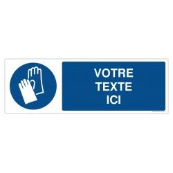M009 - Port des gants obligatoire + Texte