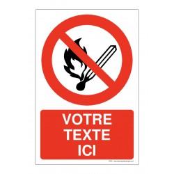 P003 - Flammes interdites + Texte