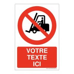 P006 - Interdit aux véhicules industriels + Texte