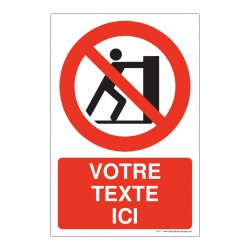 P017 - Interdiction de pousser + Texte