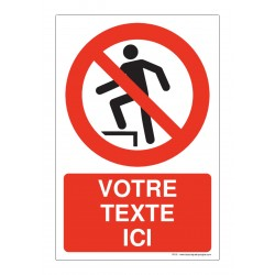 P019 - Interdiction de marcher sur la surface + Texte