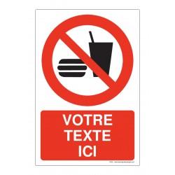 P022 - Interdiction de manger ou boire + Texte