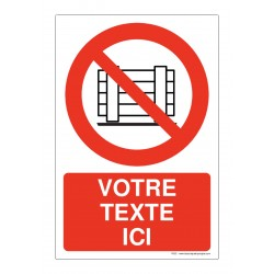P023 - Interdiction d'obstruer + Texte