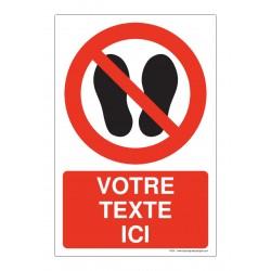 P024 - Interdiction de marcher ou stationner + Texte