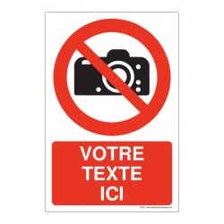 P029 - Interdiction de photographier + Texte