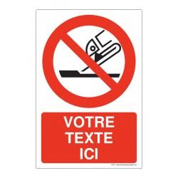 P032 - Interdiction d'utiliser pour rectification plane + Texte