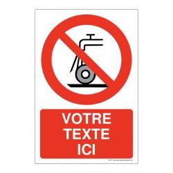 P033 - Interdiction d'utiliser pour rectification humide + Texte