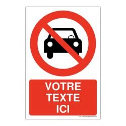P053 - Interdit aux voitures + Texte