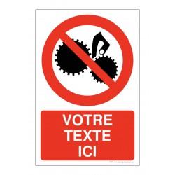 P054 - Ne pas toucher l'engrenage + Texte