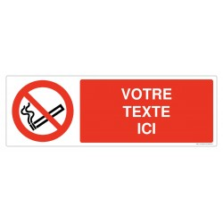 P002 - Interdiction de fumer + Texte