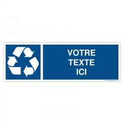Recyclage - Coloris Bleu + Texte