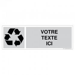 Recyclage - Coloris Gris + Texte