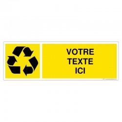 Recyclage - Coloris Jaune + Texte