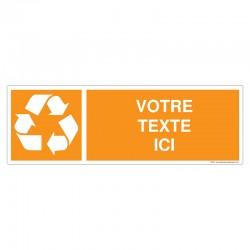 Recyclage - Coloris Orange + Texte