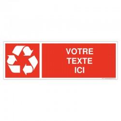 Recyclage - Coloris Rouge + Texte