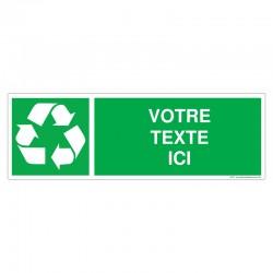 Recyclage - Coloris Vert + Texte