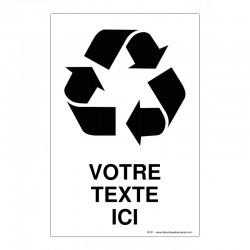Recyclage - Coloris Blanc + Texte