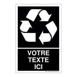 Recyclage - Coloris Noir + Texte