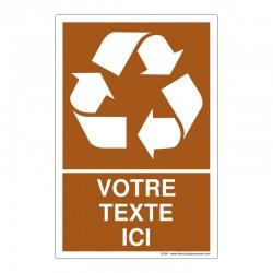 Recyclage - Coloris Brun + Texte