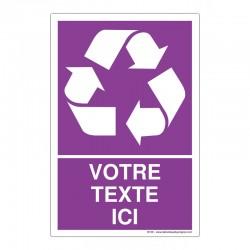 Recyclage - Coloris Violet + Texte