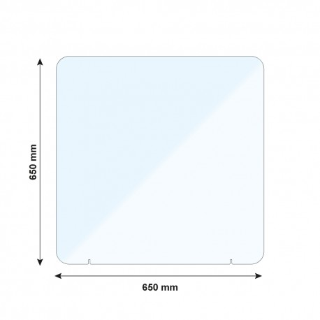 Vitre de protection PMMA - H. 650 x L. 650 mm
