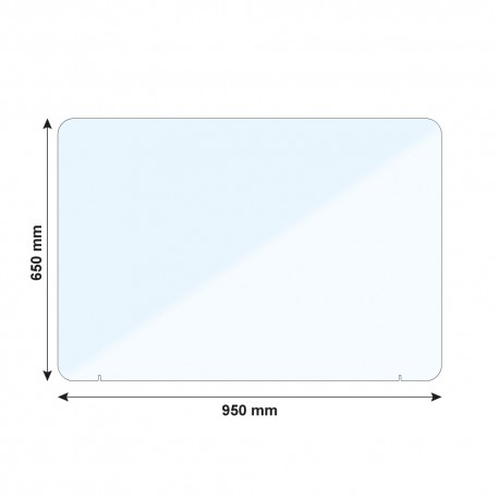 Vitre de protection PMMA - H. 650 x L. 950 mm