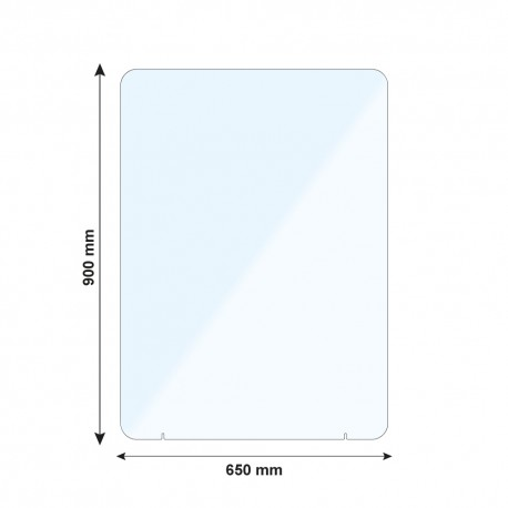 Vitre de protection PMMA - H. 900 x L. 650 mm