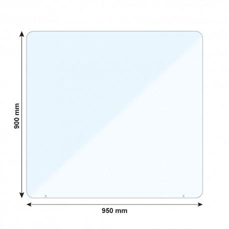 Vitre de protection PMMA - H. 900 x L. 950 mm