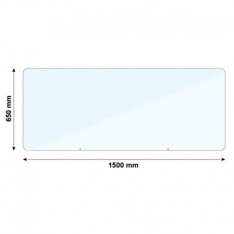 Vitre de protection PMMA - H. 650 x L. 1500 mm