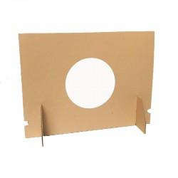Carton de séparation bureau avec hublot PVC transparent - H.600 x L.800 mm - lot de 10 pièces