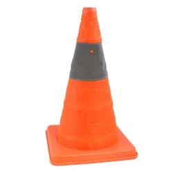 Cone de signalisation rétractable - Hauteur 42 cm