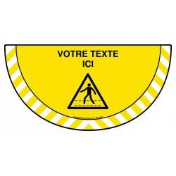 Picto demi cercle Cat.1 - B711 - Danger passage piétons + zone de texte