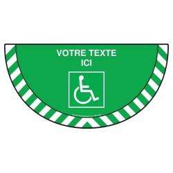 Picto demi cercle Cat.1 - E057 - Issue handicapés + Zone de texte