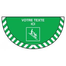 Picto demi cercle Cat.1 - E060 - Chaise d'évacuation + Zone de texte