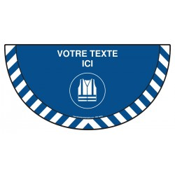 Picto demi cercle Cat.1 - M015 - Gilet de sécurité haute visibilité obligatoire + zone de texte