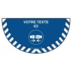 Picto demi cercle Cat.1 - M020 - Attacher la ceinture de sécurité + zone de texte