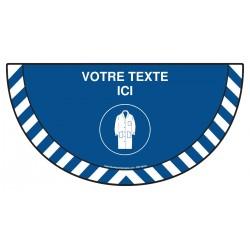 Picto demi cercle Cat.1 - M150 - Blouse coton obligatoire + zone de texte