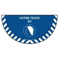 Picto demi cercle Cat.1 - M152 - Port du bonnet obligatoire + zone de texte
