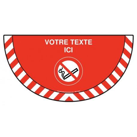 Picto demi cercle Cat.1 - P002 - Interdiction de fumer + zone de texte