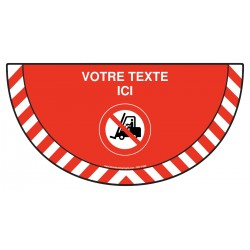 Picto demi cercle Cat.1 - P006 - Interdit aux véhicules industriels + zone de texte