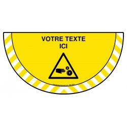 Picto demi cercle Cat.1 - W154 - Attention à vos mains + zone de texte