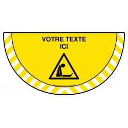 Picto demi cercle Cat.1 - W159 - Danger risque d'asphyxie + zone de texte