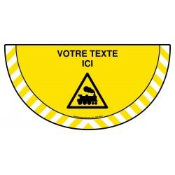 Picto demi cercle Cat.1 - W160 - Attention aux trains + zone de texte