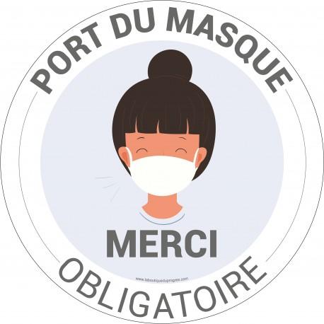 Pictogramme obligation Port du Masque Fun 1 - HYG901