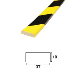 Profilé anti-chocs surface plane S3 - 1.20 m