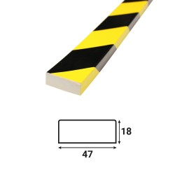 Profilé anti-chocs surface plane S4 - 1.20 m