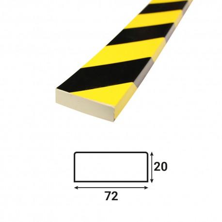 Profilé anti-chocs surface plane S5 - 1.20 m
