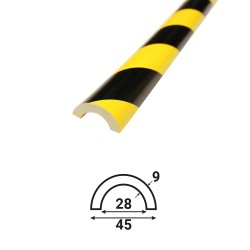 Profilé anti-chocs pour tube T1 - 1.20 m
